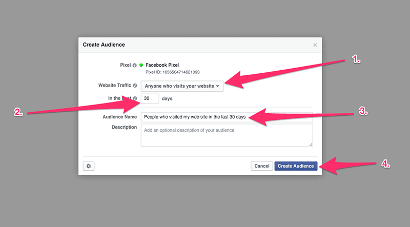 create retargeting audience