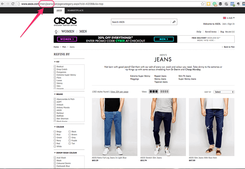 asos mens clothing facebook ca url