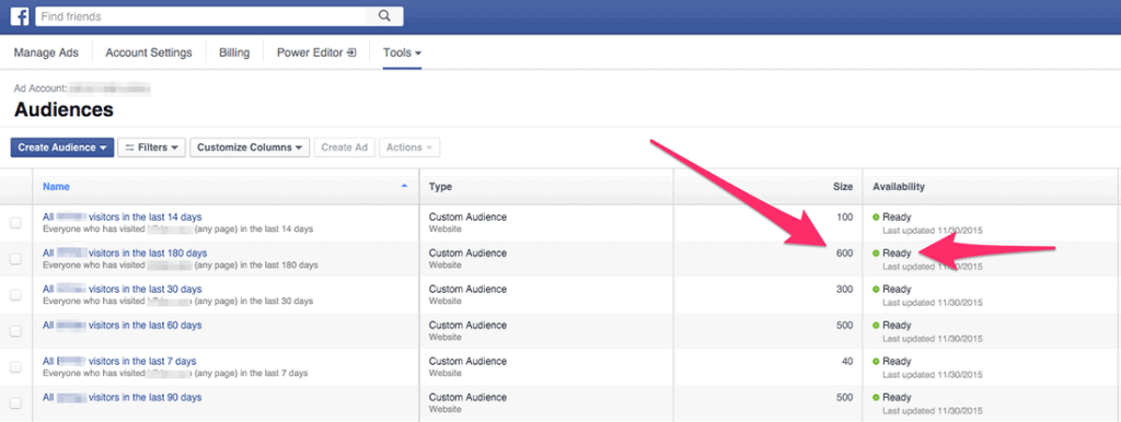facebook custom audience list