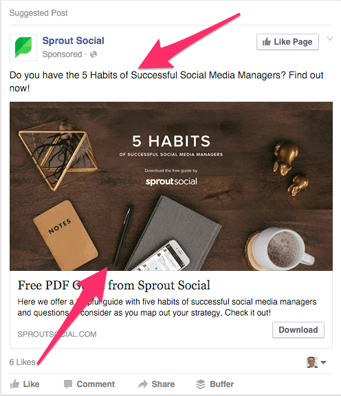 Sproutsocial FB Advertisement