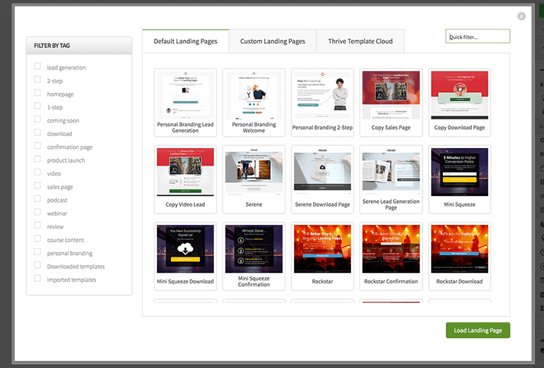 Thrive Content Builder Online business tool