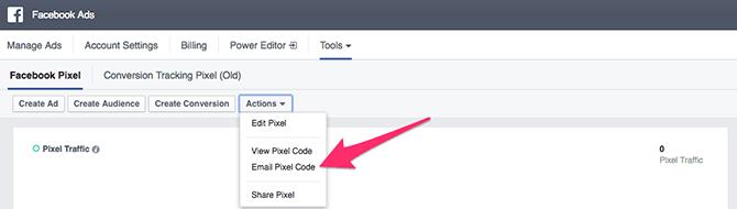 email facebook pixel code