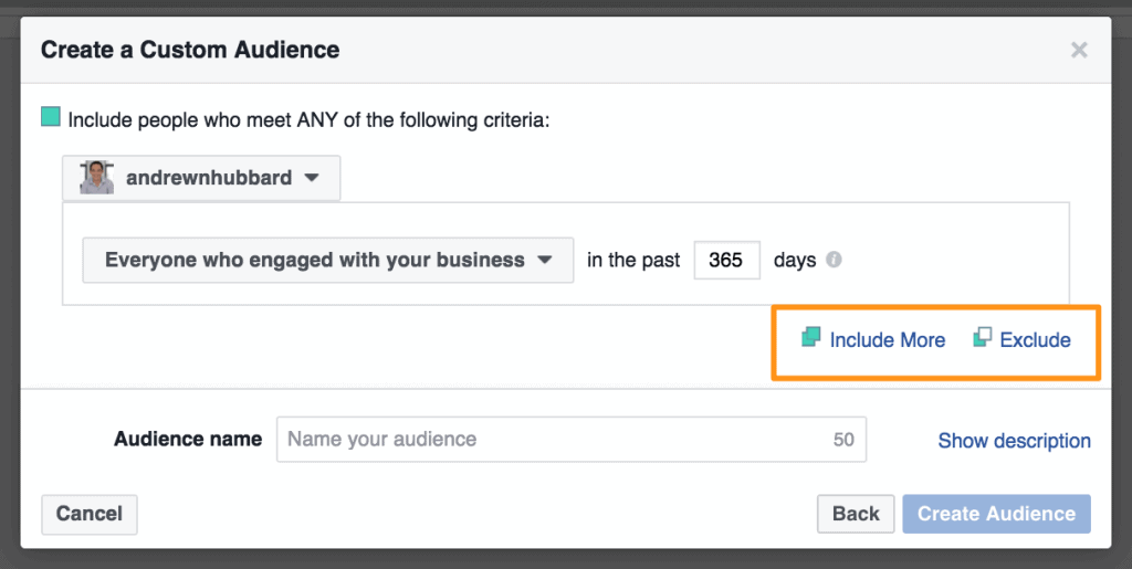 Include more instagram follower targeting with Facebook ads
